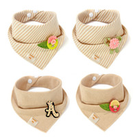 Wholesale Super Soft Cotton Boys Girls Burp Cloths Newborn Baby Bibs x31cm Baby Feeding Small Scarf Baby Bibs