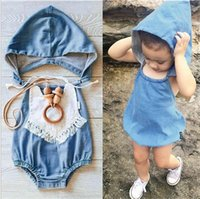 baby cowboy pictures - NEW BABY boy girl cowboy romper fashion baby Hooded fashion romper baby take pictures clothing YN58
