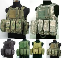 Wholesale combat vest color for chooes US Marine Assault Plate Carrier Vest Digital ACU Camo Tactical Vest free ship