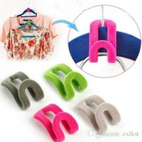 Wholesale Home Creative New Mini Flocking Clothes Hanger Hook Closet Organizer Brand New Good Quality Hot Sales