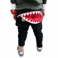 amazing sharks - Dec17 Amazing Children Kids Boys Girls Zipper Shark Teeth Pattern Full Length Cotton Harem Pants Trousers