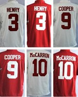 alabama mix - 2016 Men s NCAA Jersey Alabama Crimson Tide Derrick Henry Amari Cooper A J McCarron Top Quality Drop Shipping Accept Mixed orders