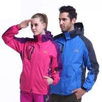 Wholesale Top end men women down jacket outdoor jaqueta thermal coat skiing camping climbing hiking jackets Waterproof Three piece couples