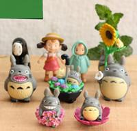 accessories potted flowers - 9pcs set Miniature DIY Resin Totoro Micro Landscape Garden Ornaments Accessory Flower Pot Potted Plants Decoration