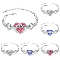 Bracelets de charme initiales France-2016 strass Bracelets Famille Personalized Naissance Bracelet Mois Initiales Mère Grandmother Charms Cuff Bracelets Cristal Bracelets