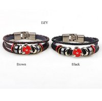 autism magnet - Leather bracelet Hot Star Charm Bangles Mens Leather magnet bracelet Multilayer Infinity Alloy Beads Wide autism bracelet Jewelry