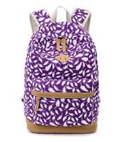 Wholesale 2016 limited bag printing simple personality backpack new canvas bag student backpack Very large practical large space School Bags