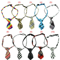 Wholesale 10 Colorful Polyester Silk Pet Dog Tie Random