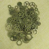 antique metal gears - Mix Vintage steampunk Charms Gear Pendant Antique bronze Fit Bracelets Necklace DIY Metal Jewelry Making