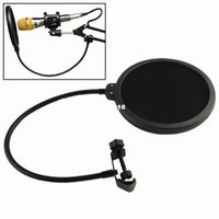 Wholesale Hotsale Double Layer Studio Microphone Mic Wind Screen Pop Filter Swivel Mount Mask Shied For Speaking Recording A5