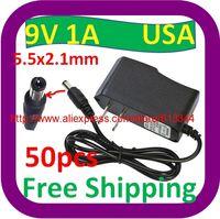 Wholesale 50 AC V V Converter Adapter DC V A Power Supply USA Plug DC mm x mm mA