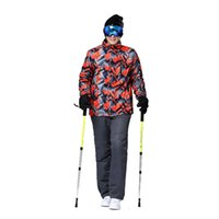 Wholesale Men Waterproof Ski Suit Male Ski Diagonal Lattice Jacket and Pant Windproof Warmth Degree Below Zero