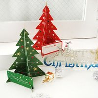 Wholesale Merry Christmas D Tree Greeting Card Postcard Birthday Gift Card Set Message Card Set Thanksgiving Card