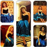 Wholesale Short Evening Dresses Myriam Fare Celebrity Dresses Tea Length Lace Arabic dresses Sheath Prom Dresses Gowns