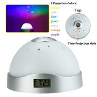 alarm clock project - 7 Colors Colorful Starry Sky Projection Nightlight Alarm Clock Projecting the Time Star Moon on Ceiling