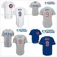 Wholesale Chicago Cubs Javier Baez Jersey White Home Blue Alternate Gray Road Premier Stitched Javier Baez Cubs Baseball Jerseys