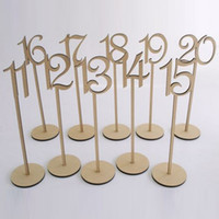 Wholesale 2016 rustic hessian wedding table decoration Wooden wedding table number holder party table number tag stand