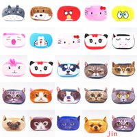 Wholesale Kawaii Cartoon Animal Large Capacity Plush Pencil Holder Storage Pouch Cosmetic Bag wallet phone package Plush Pencil Cases Bags