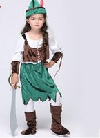 best pirate costumes - Children Costumes Pirate Costume Hot Dancewear Cosplay Dress Product includes Hat Dress Footset and Vest Velvet and Satin Best Quality