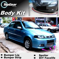 Wholesale Bumper Lips For Fiat Siena Albea Petra Pyeonghwa Hwiparam Front Skirt Deflector Spoiler For Car Tuning The Stig Recommend Body Kit Strip