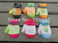 Wholesale Pairs Baby Boys Girls Double Layer Thicked Warm Glove Children s Outerwear Winter Knitted Mittens Years