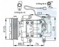 Wholesale Auto air ac compressor fit Mazda Mazda CR19 CC2961450G CC2961K00 CC2961K00A