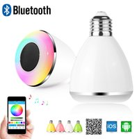 Wholesale RGB Smart Bluetooth Music Speaker Lamp LED Bulb E27 Intelligent Light Holiday Party Decoration Gift