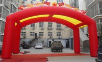 Wholesale Inflatable arches door stage performances wedding celebration flow tent awning