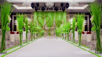 apple swag - White Wedding Backdrop With Apple Green Color Swag Drapes