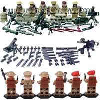 Wholesale World War II Set US Minifigures Commandos Brothers Team Marine Corps RPG Battlefield Building Blocks Toys Compatible With