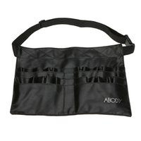 artist apron - Protable Cosmetic Makeup Brush PVC Apron Bag Artist Belt Strap Professional Make up Bag Holder H9884