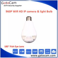 Wholesale 360 Degree Panoramic HD Fish Eye WIFI P2P Network IP Camera Bulb Camera Light Home Security System