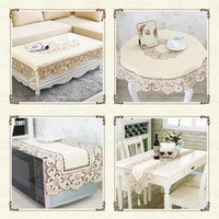 Wholesale Luxury Elegant Polyester Europe Embroidery Placemats Table Runner Embroidered Floral Cutwork Table Cloth Covers Tablecloth Home Decor