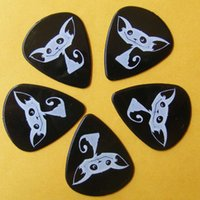 Wholesale plastic guitar pick Most effective nylon guitar picks with one sided print