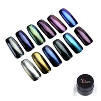 Wholesale mirror effect chrome pigment powder for nail polish in UV gel