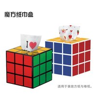 Wholesale Rubik s Cube Tissue Boxes Sitting Room Dining Room Tissue Box Creative Home Office Tissue Box