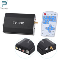 analog box with remote control - DVB T Multi channel Mobile Car Digital TV Box Mini Analog Tuner Signal Receiver with TV Antenna Remote Control for DVD Monitor