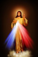 abstract art image - 2016 Divine Mercy Image Love Jesus Christ Motivational fabric silk poster print Room Decoration canvas wall art