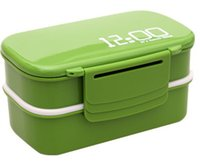 Wholesale Hot sales Eco frendly lunch time Japan style double tier Bento Lunch Box Large meal box Dinner sets Easy Open microwave