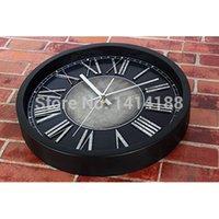 Wholesale European relojes de cocina pared vintage wall sticker clock wanduhr watch pared orologio parete klok horloge murale plastic