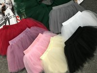 Wholesale Baby Girls Candy Pettiskirts Net Mesh Veil Tulle Skirt Spring Summer Kids Princess Ball Gown Tutu Skirts For Party Gift