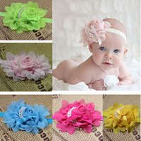 beautiful baby jewelry - Sew pearls girls hair band beautiful flowers bows kids fashion hair band candy colors elastic band baby jewelry