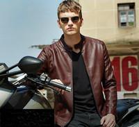 Wholesale 2016 Fashion Mens Leather Jackets Cool PU Men Coats Stylish Motorcycle Jacket Biker Jacket For Men