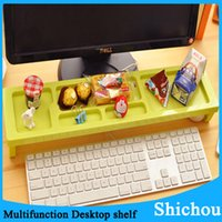 Wholesale New Storage Racks Desktop Computer Keyboard Shelf Platform Anti Dust shelf Cover free dhl