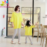 adidas tracksuit - mother and daughter clothes fashion brand winter Family Matching Outfits long sleeve T shirt dot pant tracksuit