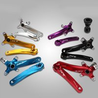 Wholesale Alloy Aluminum CyclingRoad Mountain Bike Crank Sprocket Set Folding Bike Cranksets speed speed fiber crank axis road crankset