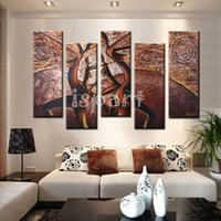 african dance pictures - hand painted large modern abstract wall paintings brown african dancing women oil painting on canvas nude wall picture for living room