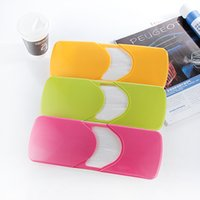 Wholesale Sun visor tissue box holder documents Candy Colors Universal Creative Car Tissue Box Slide Cover Paper Napkin Holder High Quality