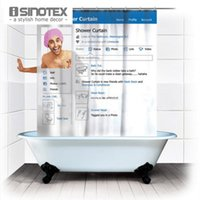 Wholesale 1 Shower Curtain Bathroom Products Polyester Fabric Social Facebook Printed Bath Curtain Waterproof quot