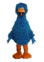 big bird feathers - AM9204 Feather Blue Big Bird Mascot costume Bird mascot outfit party costumes Customized fur mascot